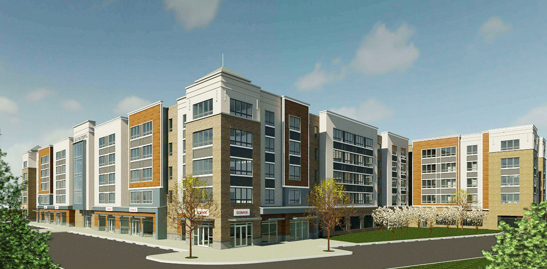 A rendering of the mixed-use development project in downtown Woodbridge. Courtesy of Prism Capital Partners, LLC.